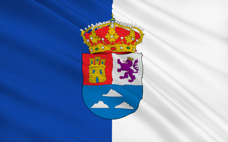 las palmas: Flag of Las Palmas is a province of Spain, consisting of the eastern part of the autonomous community of the Canary Islands. Stock Photo