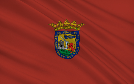 alava: Flag of Alava or Araba is a province of Spain and a historical territory of the Basque Country, heir of the ancient Lordship of Alava. Its capital city is Vitoria-Gasteiz Stock Photo