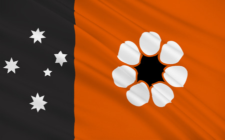 nt: Flag of Northern Territory (NT) is a federal Australian territory in the centre and central northern regions.