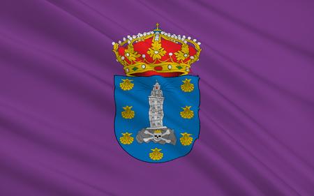 municipality: Flag of La Corunna is the city provincial capital of the province La Corunna and municipality  autonomous community of Galicia, Spain.