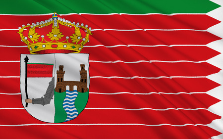 palencia province: Flag of Zamora is a city in Castile and Leon, Spain, the capital of the province of Zamora. Stock Photo