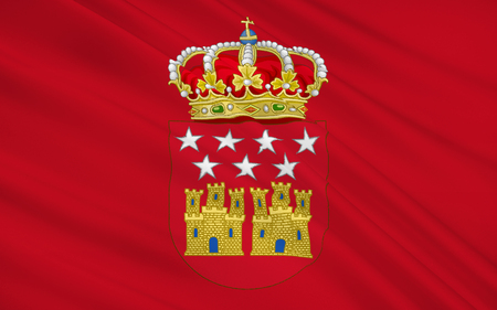 peninsula: Flag of The Community of Madrid is one of the seventeen autonomous communities (regions) of Spain. It is located at the centre of the country, the Iberian Peninsula, and the Castilian Central Plateau (Meseta Central).