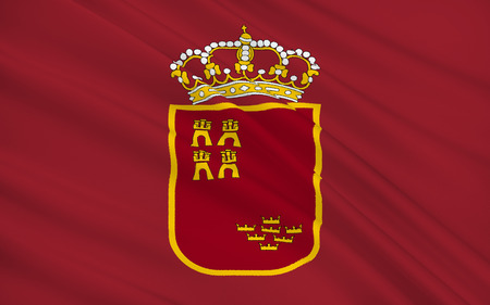 iberian: Flag of the Region of Murcia is an autonomous community of Spain located in the southeast of the state, between Andalusia and Valencian Community, on the Mediterranean coast.