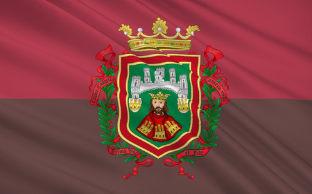 castile leon: Flag of Burgos is a city in northern Spain and the historic capital of Castile and Leon