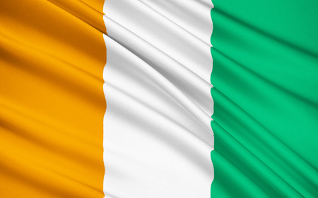 prior: The flag of Ivory Coast. The flag was adopted in 1959, just prior to independence.