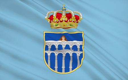 Segovia is a city in the autonomous region of Castile and Leon, Spain. It is the capital of Segovia Province. Stock Photo