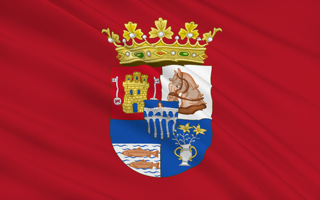 northern spain: Flag of Segovia is a province of central northern Spain, in the southern part of the autonomous community of Castile and Leon. Stock Photo