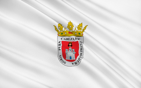 palencia province: Flag of Soria is a city in north-central Spain, the capital of the province of Soria in the autonomous community of Castile and Leon Stock Photo