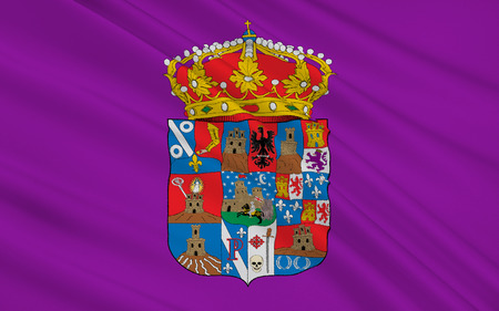 guadalajara: Flag of Guadalajara is a province of central north-central Spain, in the northern part of the autonomous community of Castile�La Mancha. Stock Photo