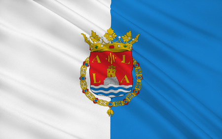 port of spain: Flag of Alicante is a city and port in Spain on the Costa Blanca, the capital of the province of Alicante and of the comarca of Alacanti, in the south of the Valencian Community.