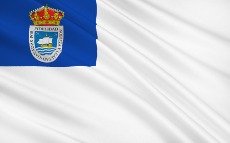 municipality: Flag of San Sebastian or Donostia is a coastal city and municipality located in the Basque Autonomous Community of Spain