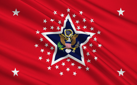 sway: Flag of the United States Armed Forces Stock Photo