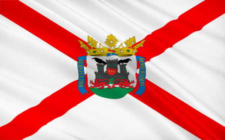 gasteiz: Flag of Vitoria-Gasteiz is the capital city of the Basque Autonomous Community and of the province of Araba or Alava in northern Spain.