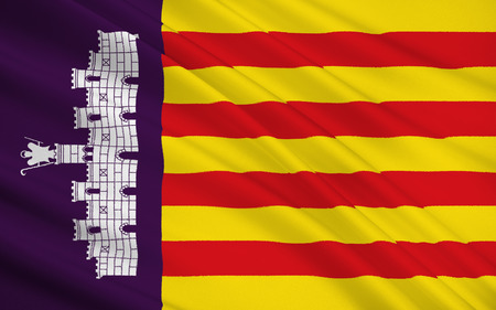 majorca: Flag of Palma de Mallorca - is the capital and largest city of the autonomous community of the Balearic Islands in Spain.