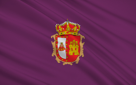 castile and leon: Flag of Burgos is a province of northern Spain, in the northeastern part of the autonomous community of Castile and Leon Stock Photo