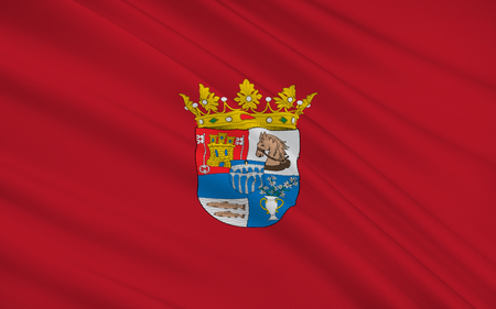 leon: Flag of Segovia is a province of central northern Spain, in the southern part of the autonomous community of Castile and Leon. Stock Photo