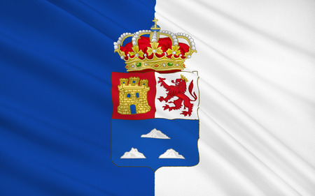 canary: Flag of Las Palmas is a province of Spain, consisting of the eastern part of the autonomous community of the Canary Islands. Stock Photo