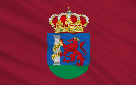 iberian: Flag of Badajoz is the capital of the Province of Badajoz in the autonomous community of Extremadura, Spain