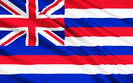polynesia: The national flag of Hawaii (USA), Honolulu - Polynesia