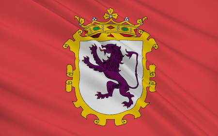 leon: Flag of Leon is the capital of the province of Leon, located in the northwest of Spain.