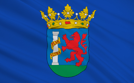badajoz: Flag of the province of Badajoz is a province of western Spain located in the autonomous community of Extremadura. Stock Photo