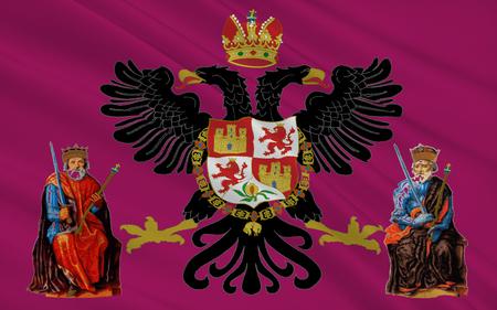 castilla: Flag of Toledo is the capital city of the province of Toledo and the autonomous community of Castile�La Mancha in Spain.