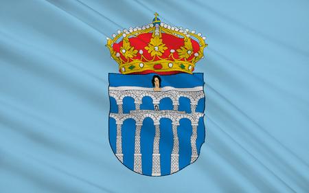 castilla: Segovia is a city in the autonomous region of Castile and Leon, Spain. It is the capital of Segovia Province. Stock Photo