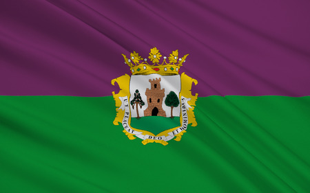 walled: Flag of Plasencia is a walled market city in the province of Caceres, Extremadura, Western Spain.