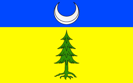 jura: Flag of Saint-Claude is a commune in the Jura department in the Bourgogne-Franche-Comte region in eastern France. Stock Photo