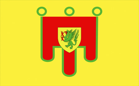 dormant: Flag of Puy-de-Dome is a department in the centre of France named after the famous dormant volcano, the Puy de Dome