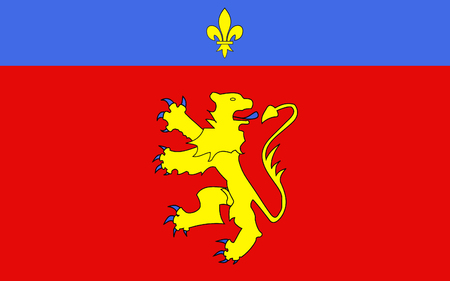 commune: Flag of Charolles is a commune in the Saone-et-Loire department in the region of Bourgogne in eastern France. Stock Photo