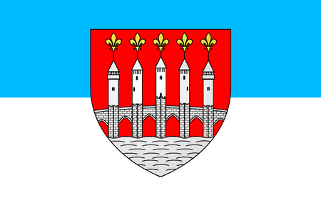 gascony: Flag of Cahors is the capital of the Lot department in south-western France