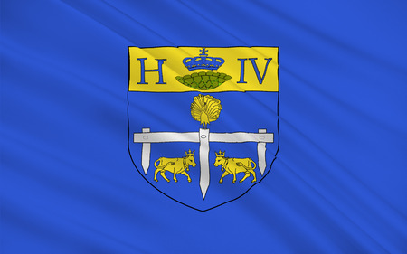 bordeaux region: Flag of Pau is a commune on the northern edge of the Pyrenees, and capital of the Pyrenees-Atlantiques Departement in the region of Aquitaine, France