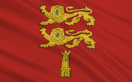 normandy: Flag of Lower Normandy - a region in the northwest of France: with the Top of the historical region of the same name. The main town - Kahn.
