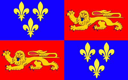 dax: Flag of Landes - department in southwestern France, a department in the Aquitaine region. The administrative center - Mont-de-Marsan.