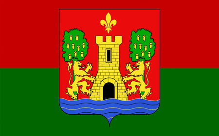 bordeaux region: Flag of Bayonne is a city and commune and one of the two sub-prefectures of the department of Pyrenees-Atlantiques, in the Aquitaine region of south-western France