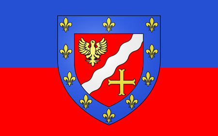 pontoise: Flag of Val-dOise is a French department, located in the Ile-de-France region Stock Photo