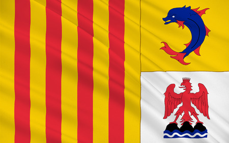 azur: Flag of Provence-Alpes-Cote Azur or PACA is one of the 13 regions of France