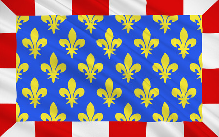 chinon: Flag of Indre-et-Loire is a department in west-central France named after the Indre and the Loire rivers Stock Photo