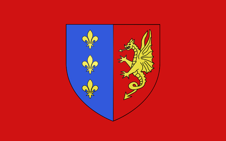 commune: Flag of Bergerac is a commune and a sub-prefecture of the Dordogne department in southwestern France. Stock Photo