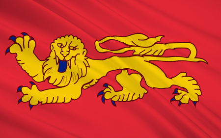 bordeaux region: Flag of Aquitaine - administrative region in south-west France. The administrative center of the region is Bordeaux, the largest city in the region.