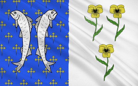 champagne region: Flag of Bar-le-Duc formerly known as Bar, is a commune in the Meuse departement, of which it is the capital. The department is in Lorraine in northeastern France.