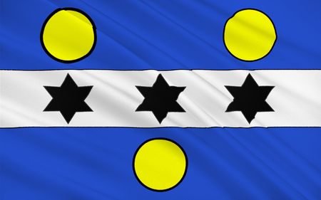 manche: Flag of Cherbourg-Octeville is a city and former commune situated at the northern end of the Cotentin peninsula in the northwestern French department of Manche