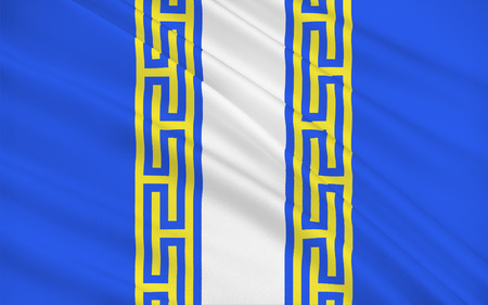 champagne region: Flag of Haute-Marne is a department in the northeast of France named after the Marne River. Stock Photo
