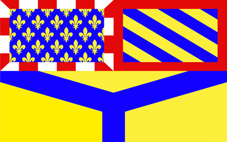 sens: Flag of Yonne - department in eastern France, a department of the Burgundy region. The administrative center - Auxerre