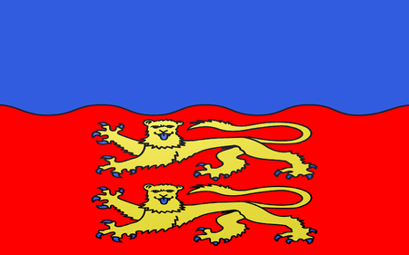 normandy: Flag of Calvados - department in the northwest of France, one of the departments in the region Basse-Normandie. Prefecture is located in Caen.