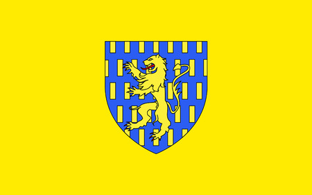 sens: Flag of Auxerre is the capital of the Yonne department and the fourth-largest city in Burgundy. Stock Photo