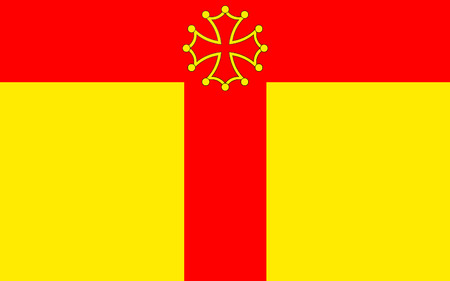 gascony: Flag of Tarn is a French department located in the Languedoc-Roussillon-Midi-Pyrenees region in the southwest of France named after the Tarn river. Its prefecture and largest city is Albi.
