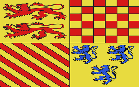 named: Flag of Correze is a department in south-western France, named after the Correze River. Stock Photo