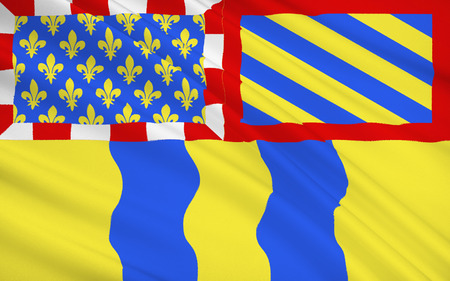 burgundy: Flag of Saone et Loire - department in eastern France, a department of the Burgundy region. The administrative center - Macon.